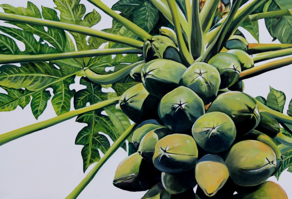 Tropical fruit painting