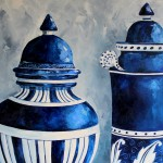 Blue Ceramics Oil painting