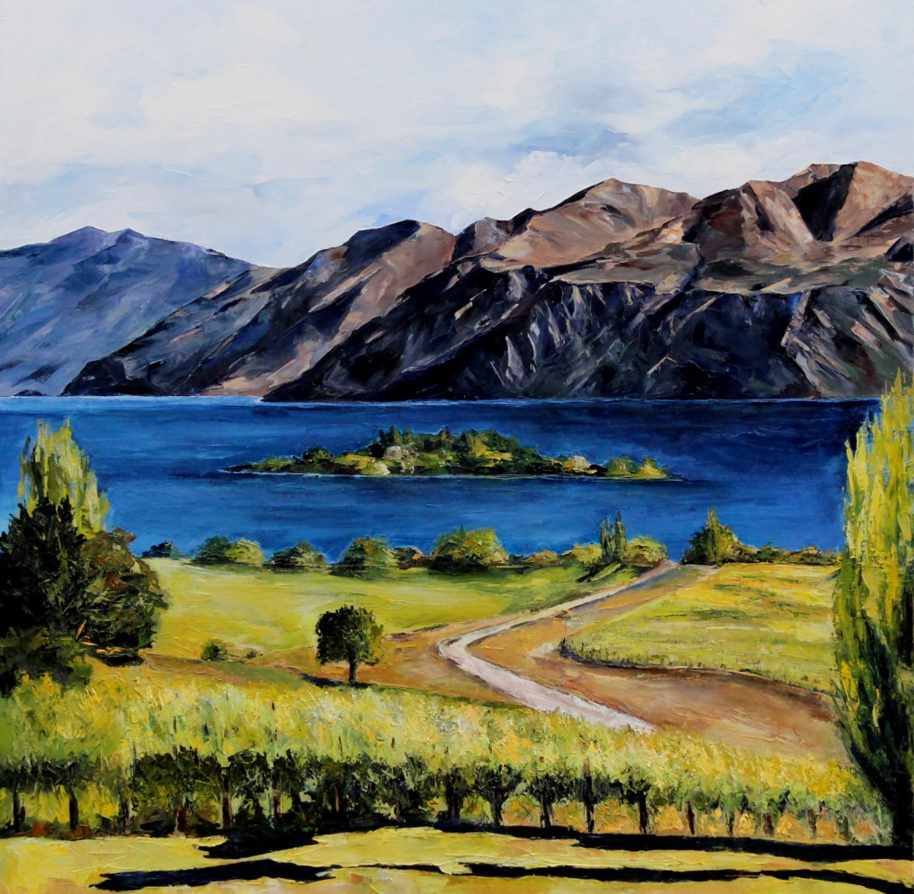 Wanaka Rippon palette knife oil painting