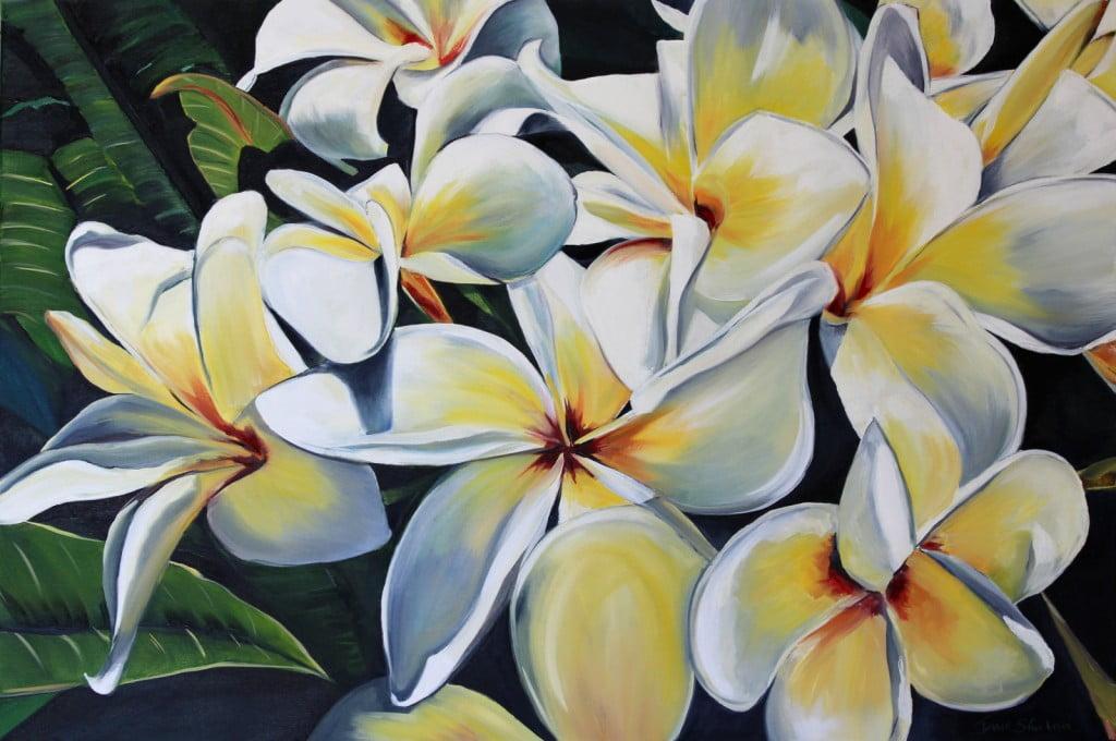Frangipani Painting
