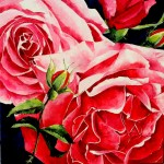 Rose Palette knife flowers