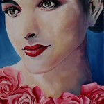 Portrait oil painting rose
