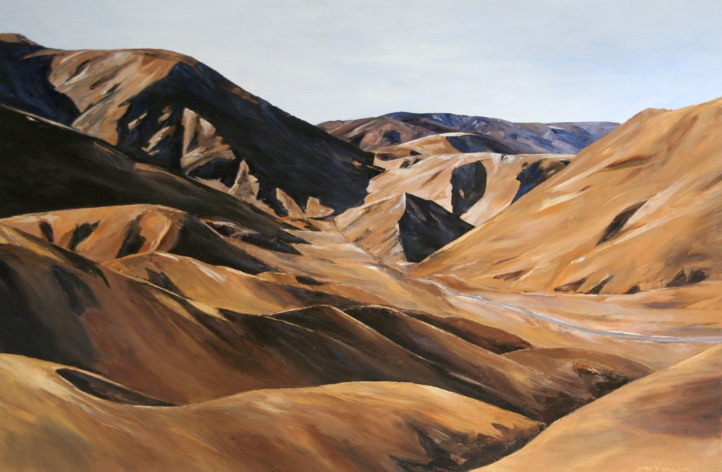 Palette knife Oil painting landscape