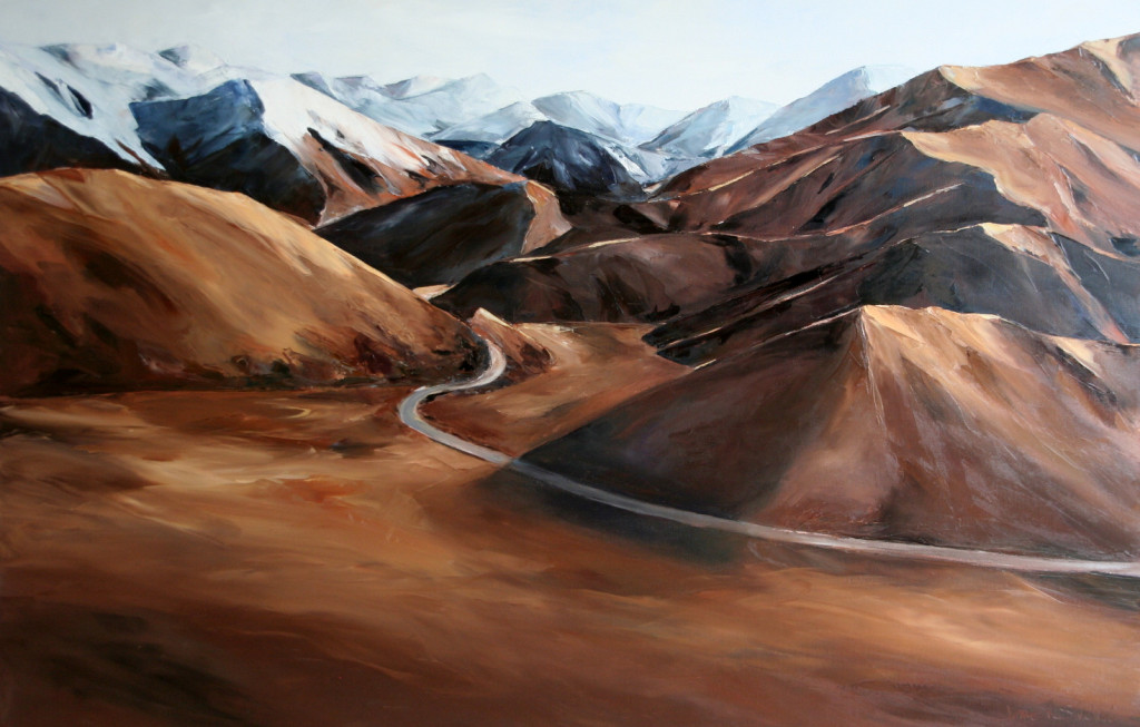 Lindis Pass palette knife south island nz