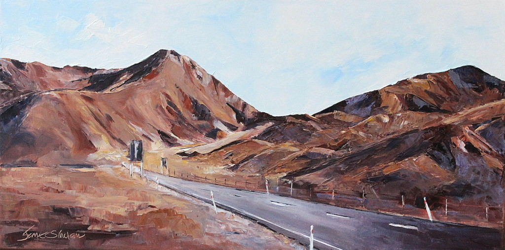 Lindis pass oil painting