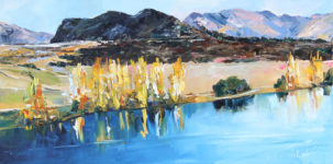new Zealand landscape oil painting