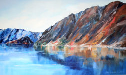 new Zealand landscape oil painting lake hawea